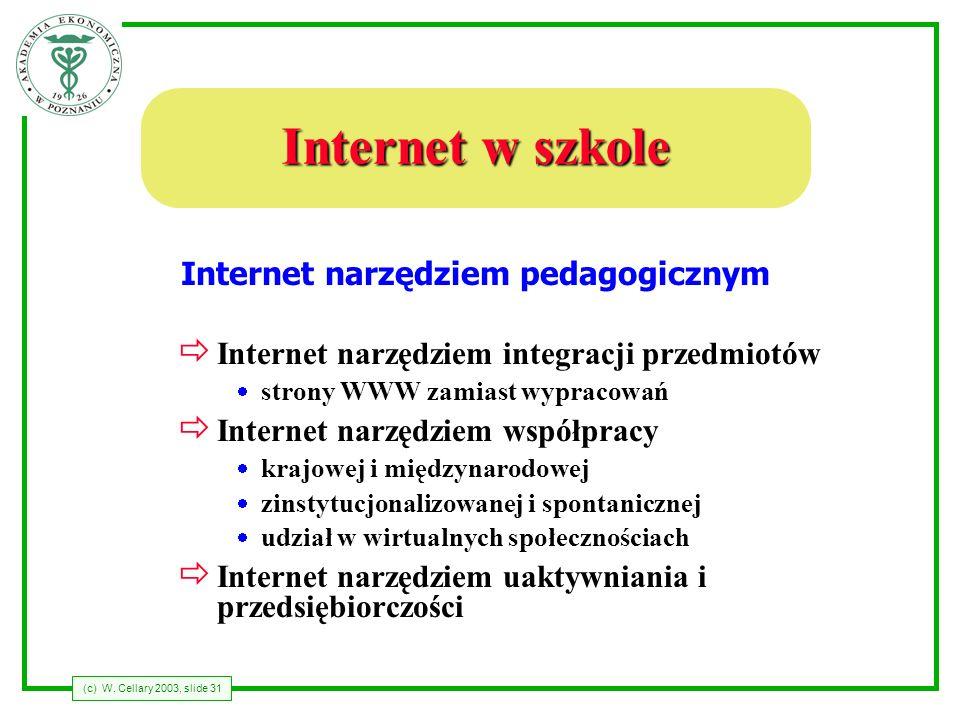 Internet narzędziem pedagogicznym