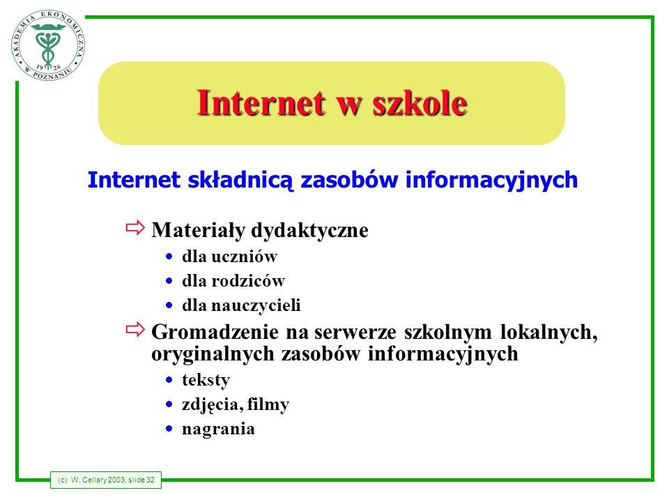 Internet składnicą zasobów informacyjnych