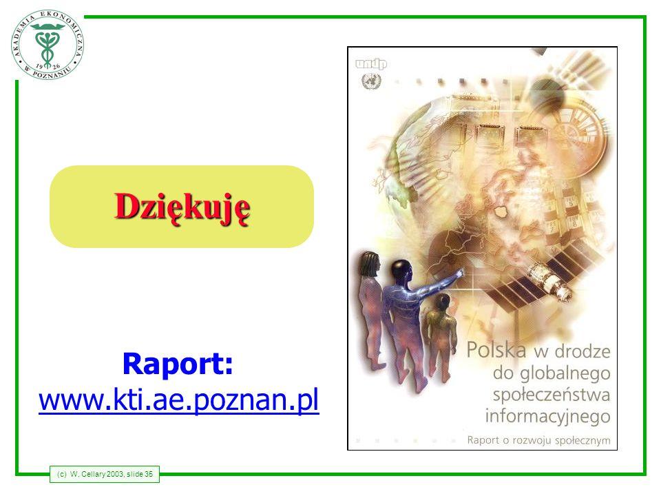 Dziękuję Raport: www.kti.ae.poznan.pl