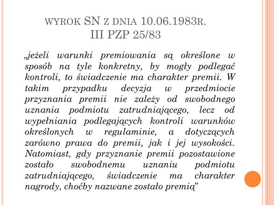 wyrok SN z dnia 10.06.1983r. III PZP 25/83