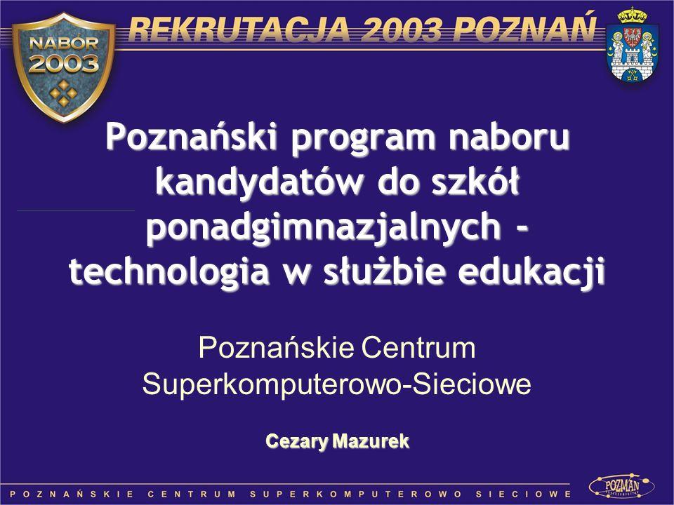 Poznańskie Centrum Superkomputerowo-Sieciowe Cezary Mazurek