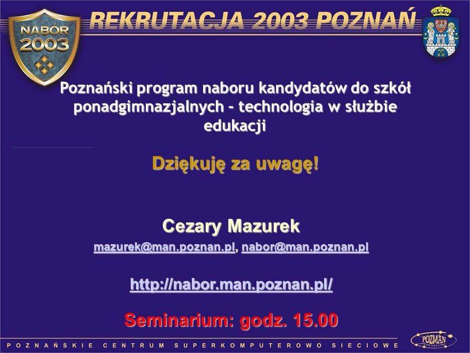 mazurek@man.poznan.pl, nabor@man.poznan.pl