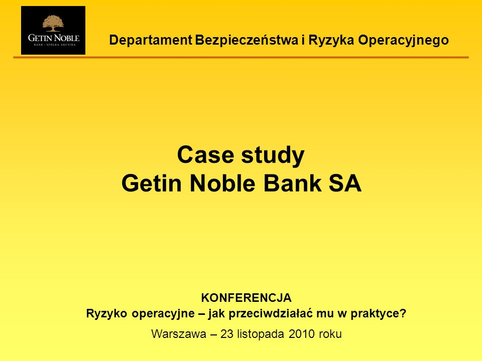 Case study Getin Noble Bank SA