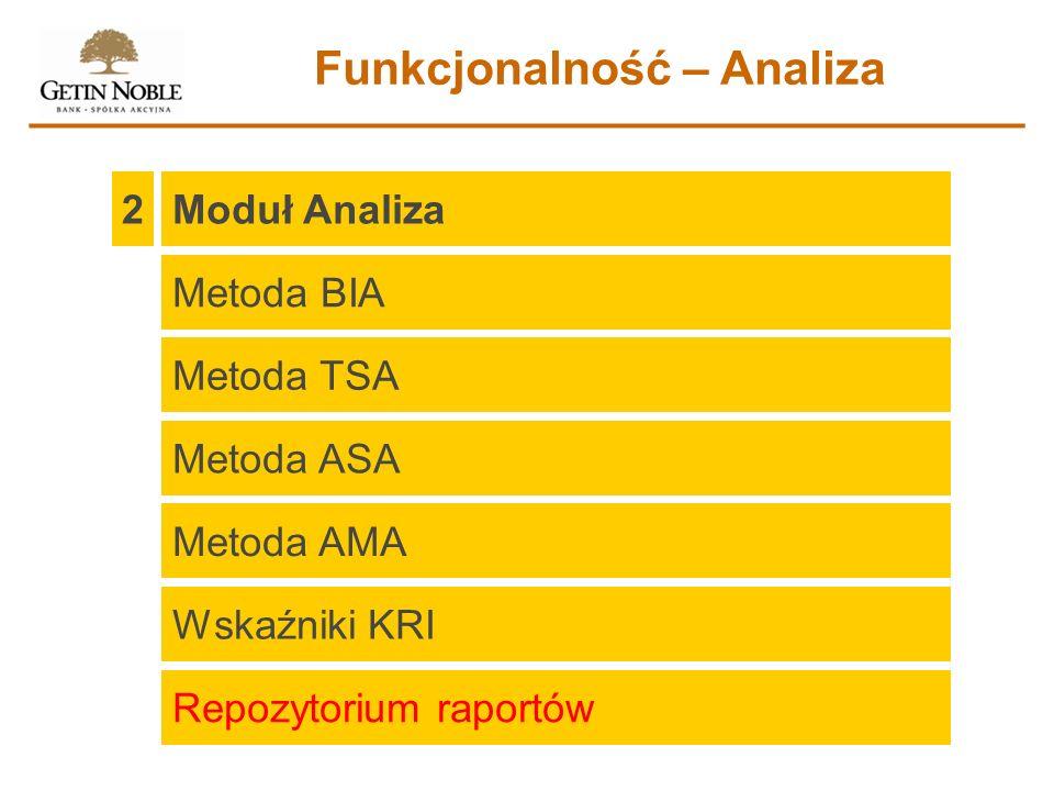 Funkcjonalność – Analiza