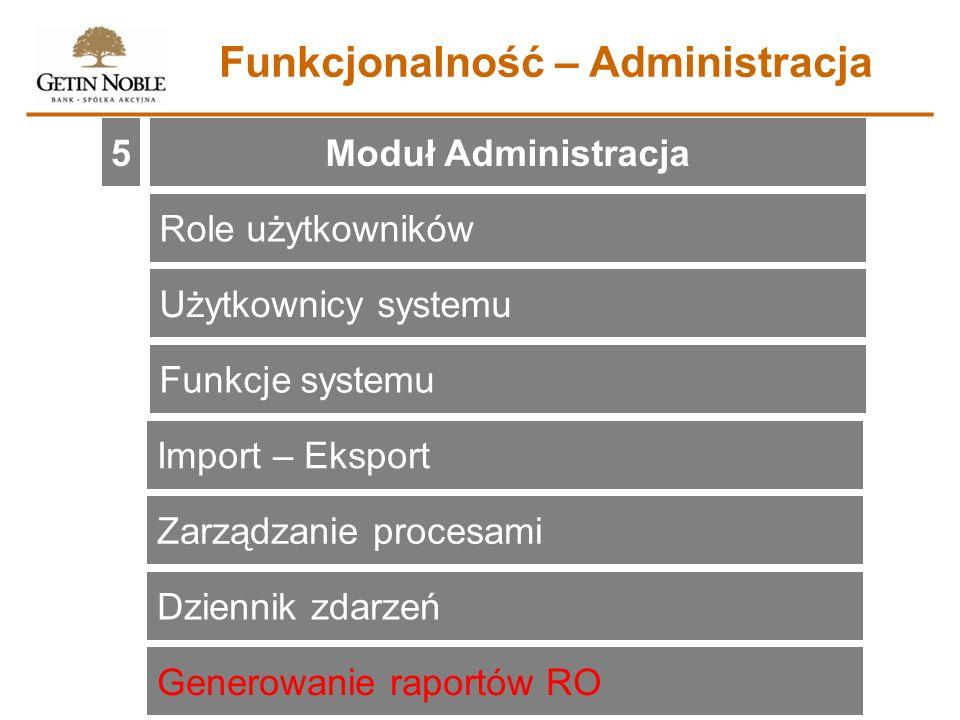 Funkcjonalność – Administracja
