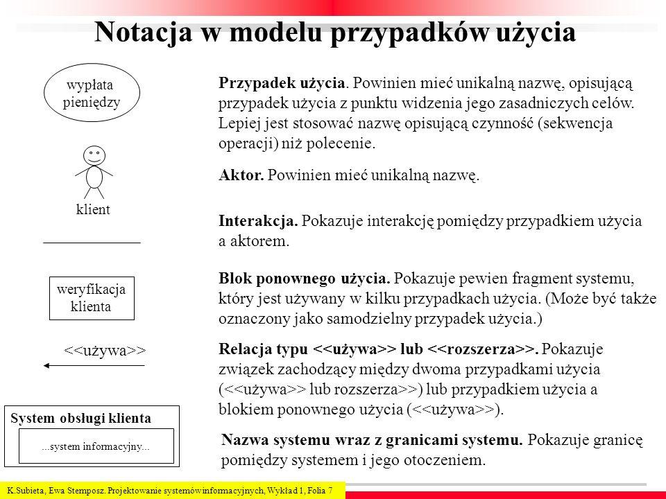 Notacja w modelu przypadków użycia