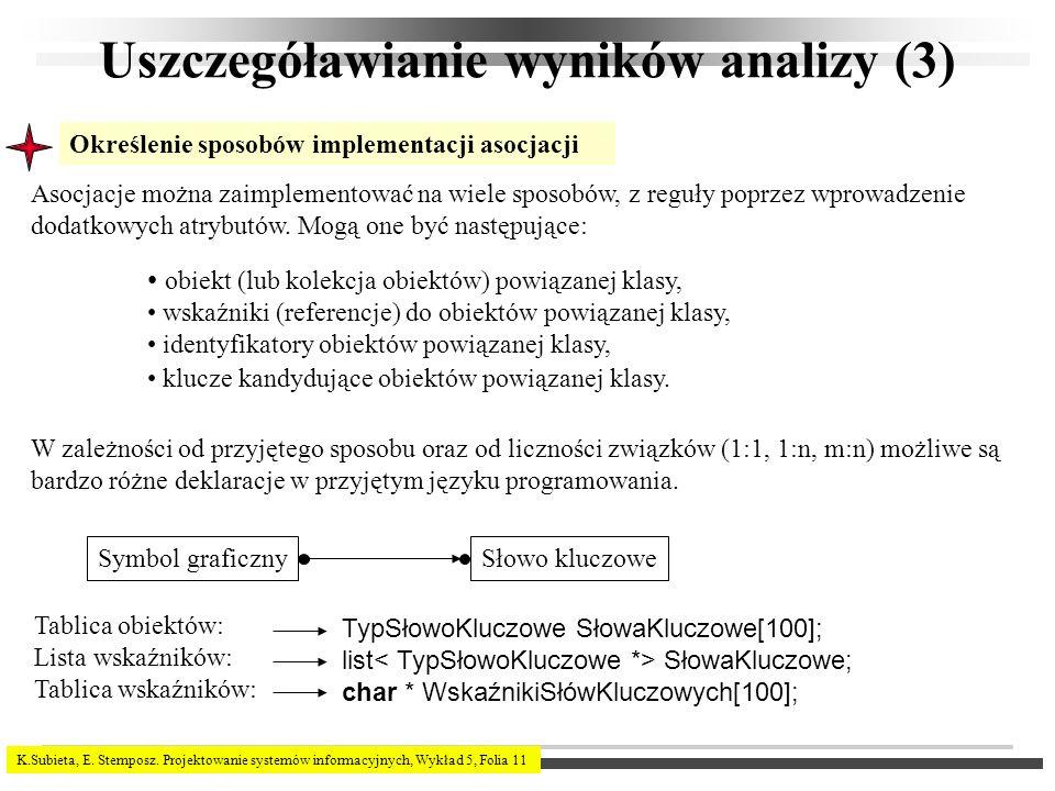 Uszczegóławianie wyników analizy (3)