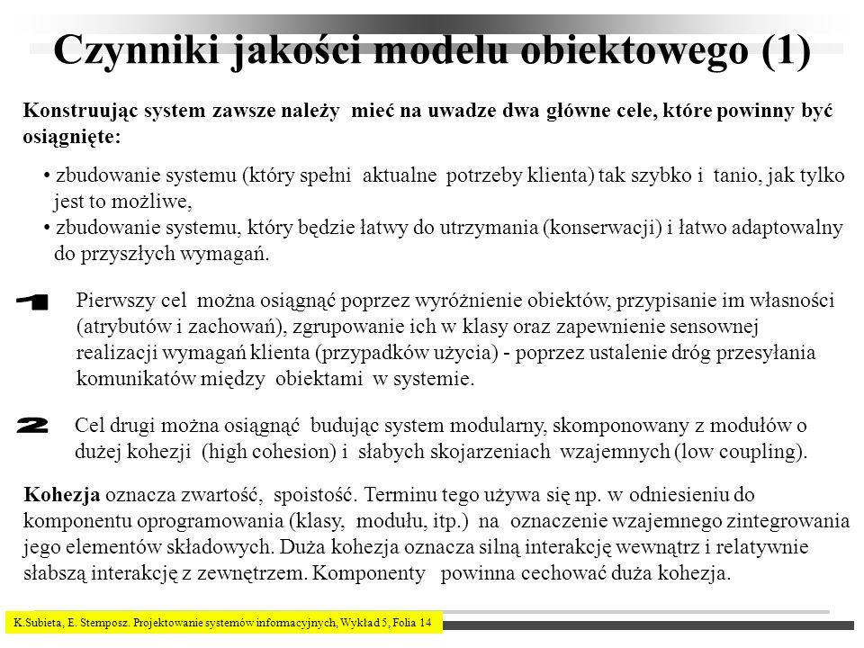 Czynniki jakości modelu obiektowego (1)