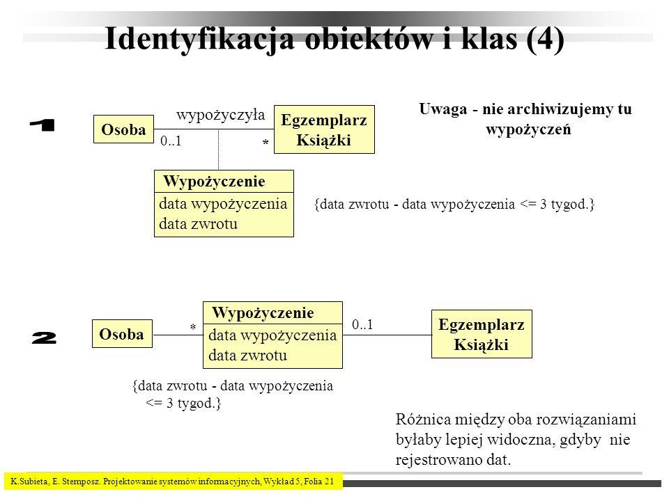 Identyfikacja obiektów i klas (4)