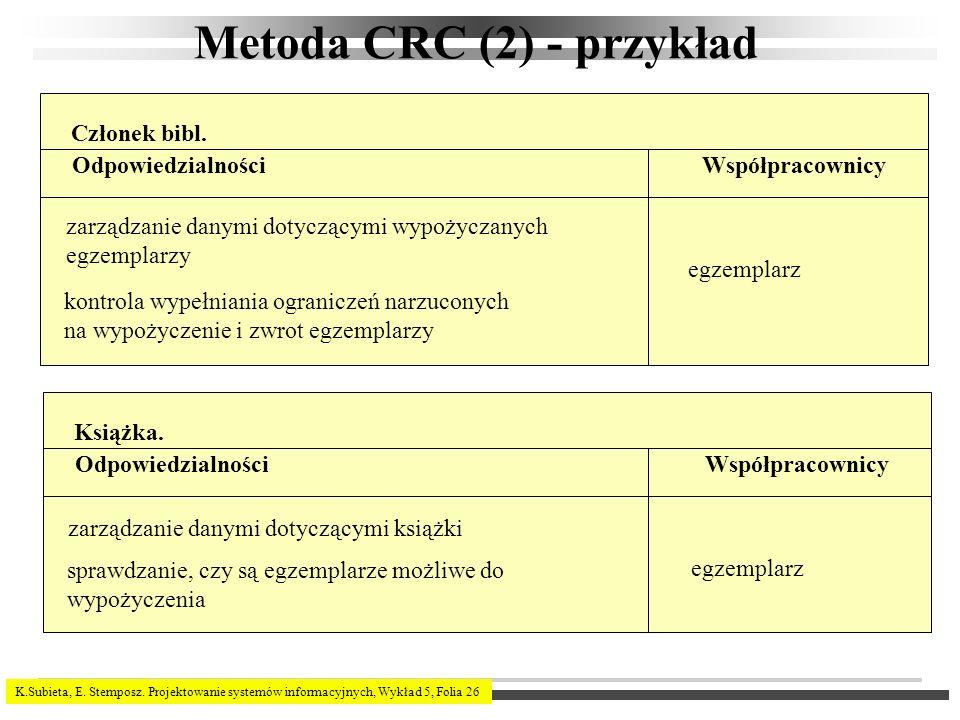 Metoda CRC (2) - przykład