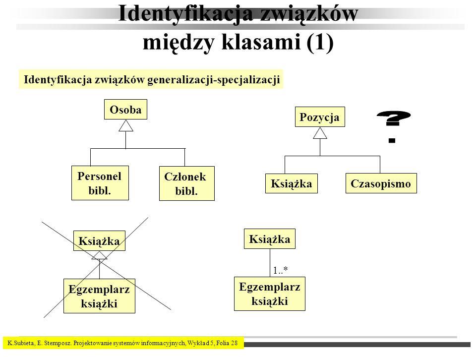 Identyfikacja związków między klasami (1)