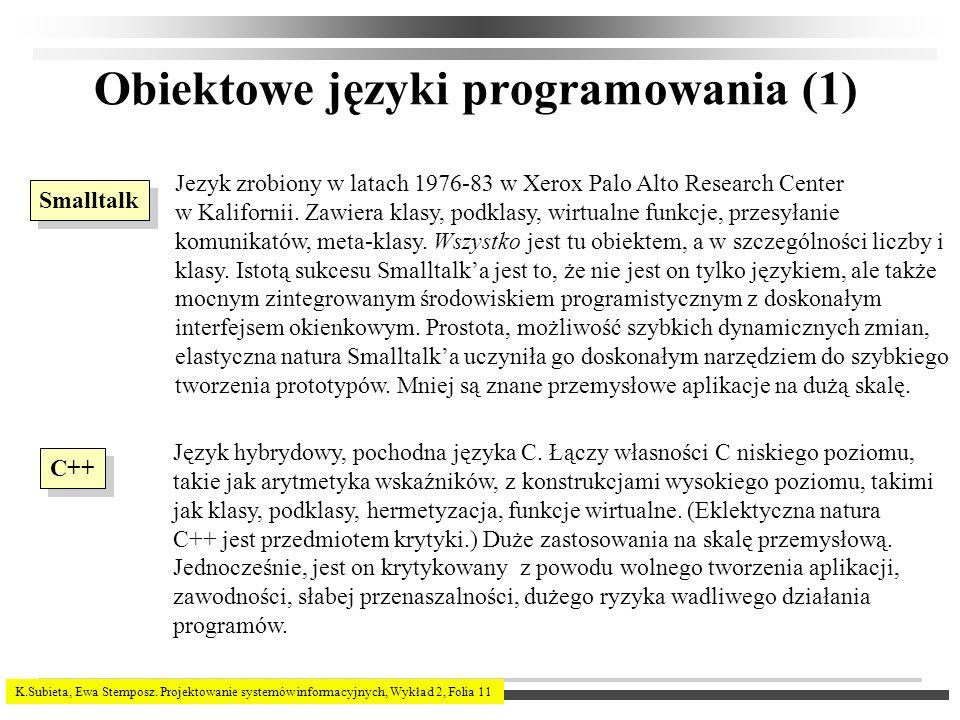 Obiektowe języki programowania (1)