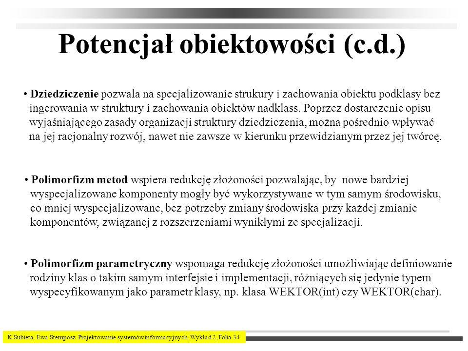 Potencjał obiektowości (c.d.)