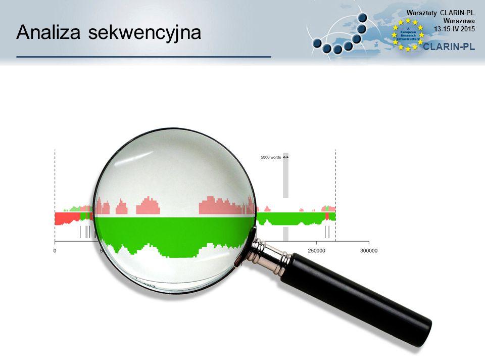 Analiza sekwencyjna CLARIN-PL