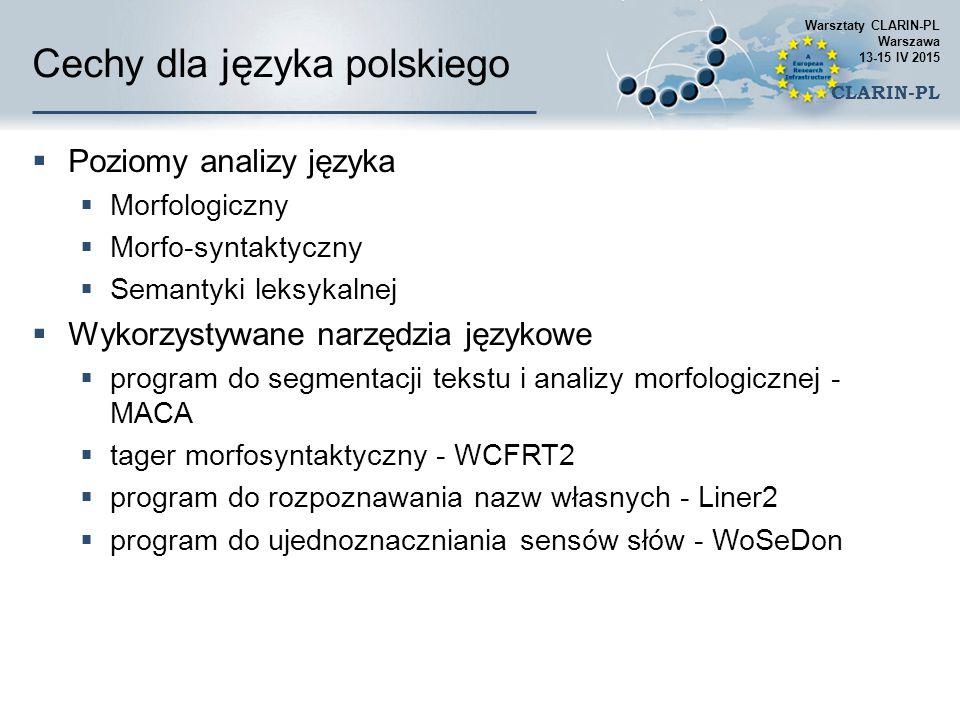 Cechy dla języka polskiego