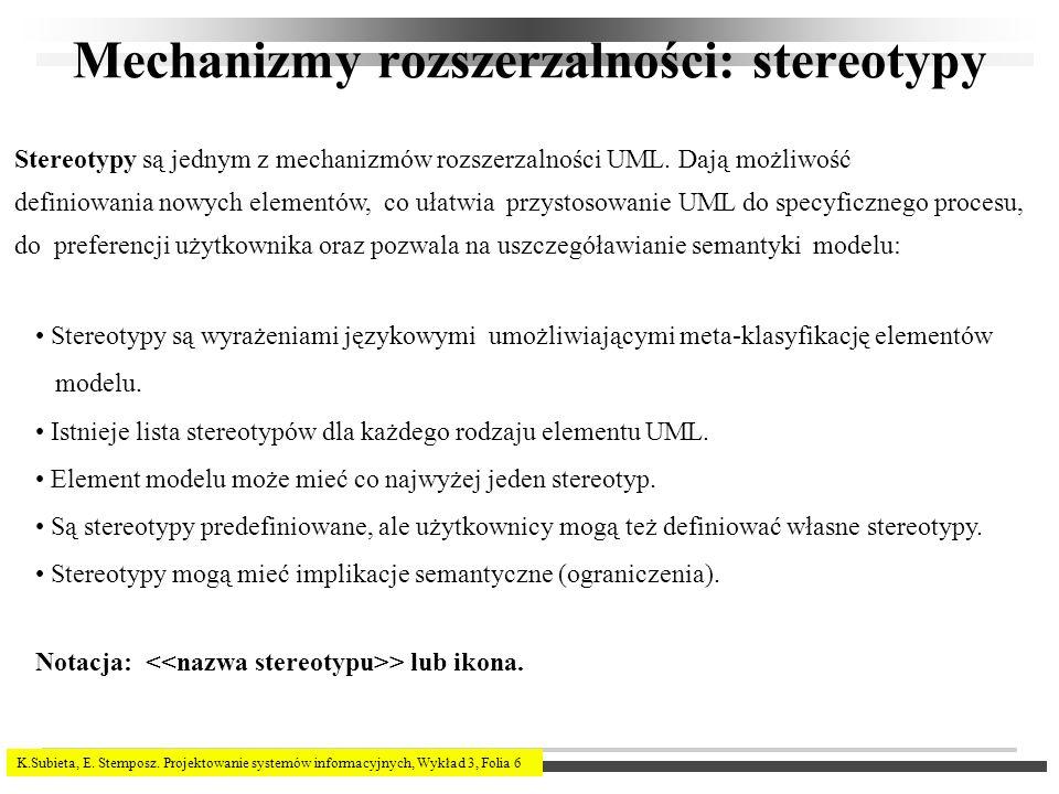 Mechanizmy rozszerzalności: stereotypy