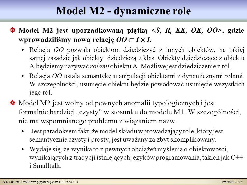 Model M2 - dynamiczne role