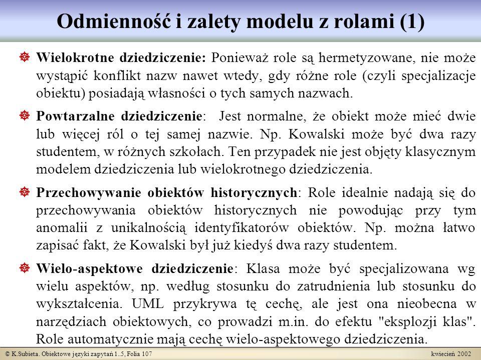 Odmienność i zalety modelu z rolami (1)