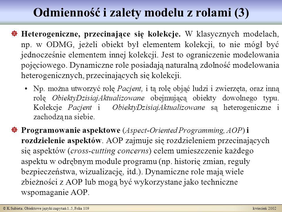 Odmienność i zalety modelu z rolami (3)