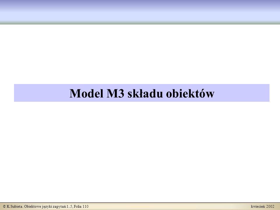 Model M3 składu obiektów