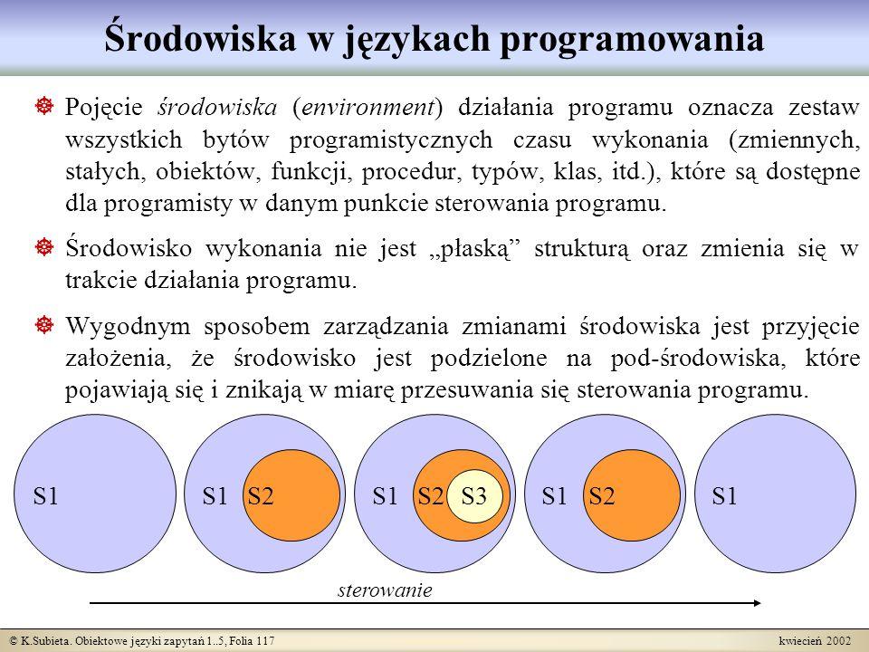 Środowiska w językach programowania