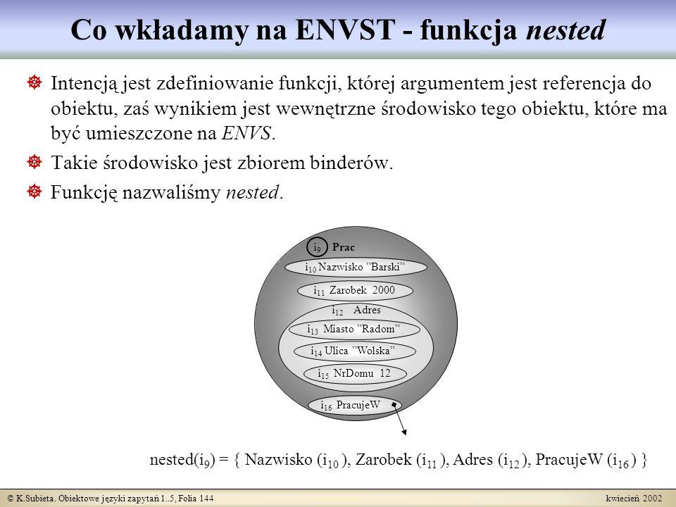 Co wkładamy na ENVST - funkcja nested