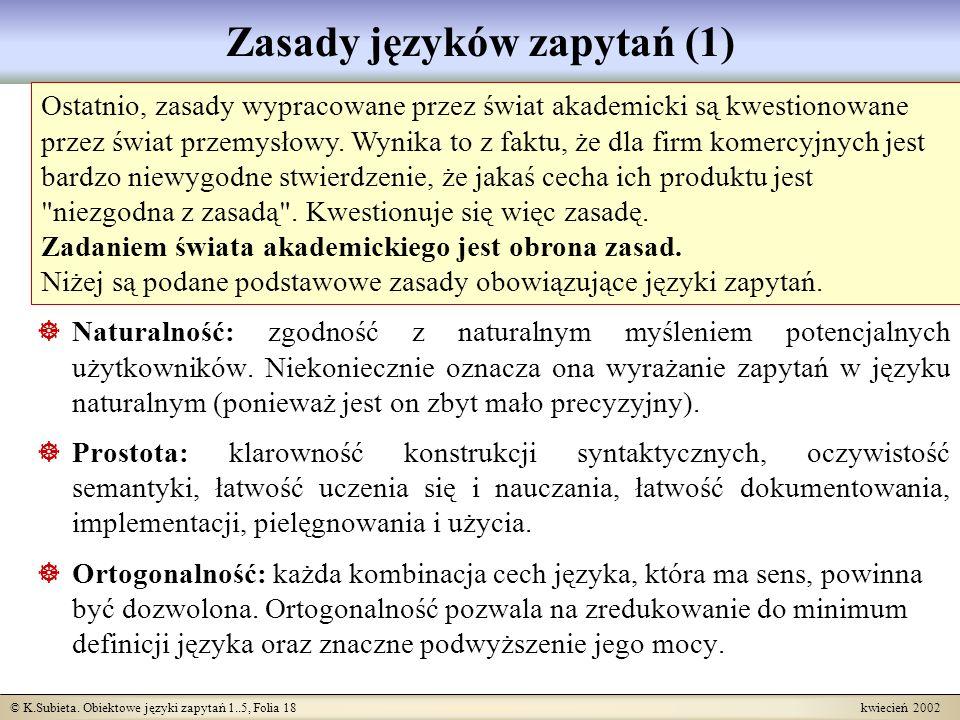 Zasady języków zapytań (1)
