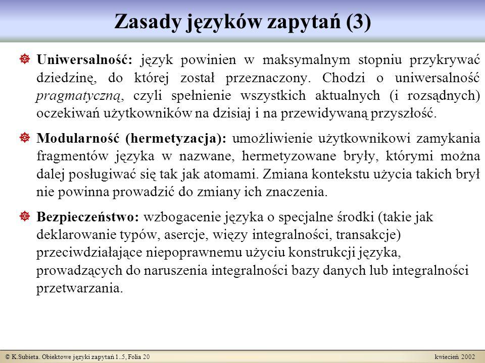 Zasady języków zapytań (3)