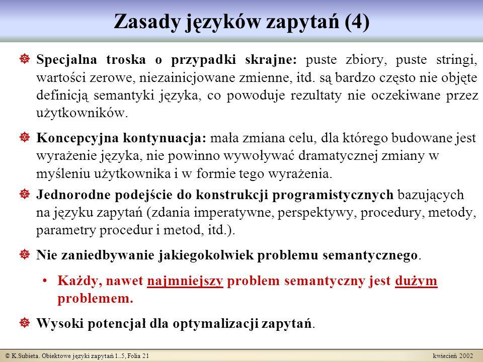 Zasady języków zapytań (4)