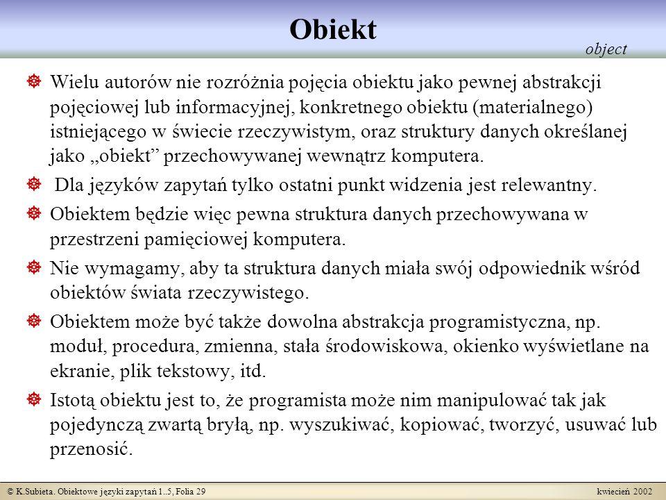 Obiekt object.
