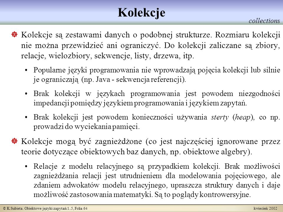 Kolekcje collections.