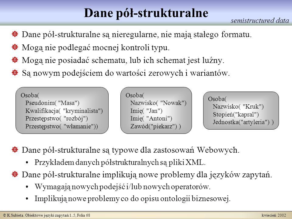 Dane pół-strukturalne