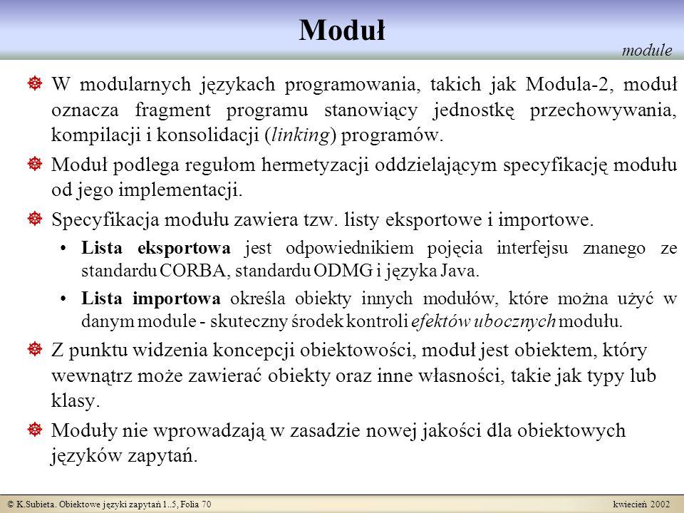 Moduł module.