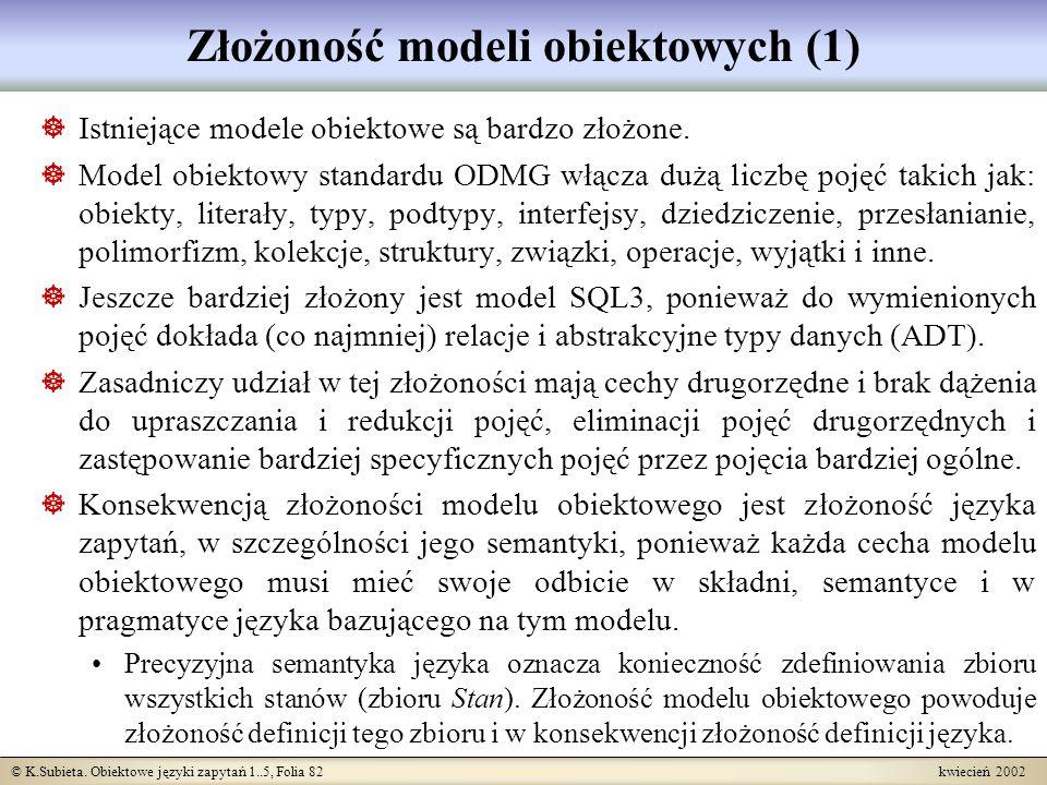 Złożoność modeli obiektowych (1)