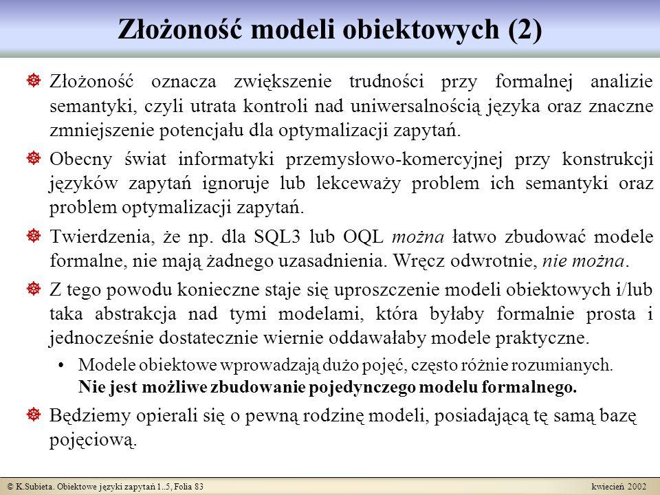 Złożoność modeli obiektowych (2)