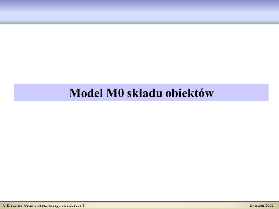 Model M0 składu obiektów