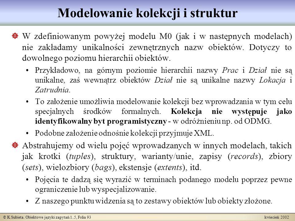 Modelowanie kolekcji i struktur