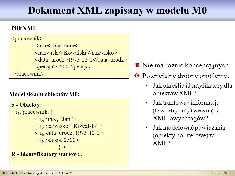 Dokument XML zapisany w modelu M0