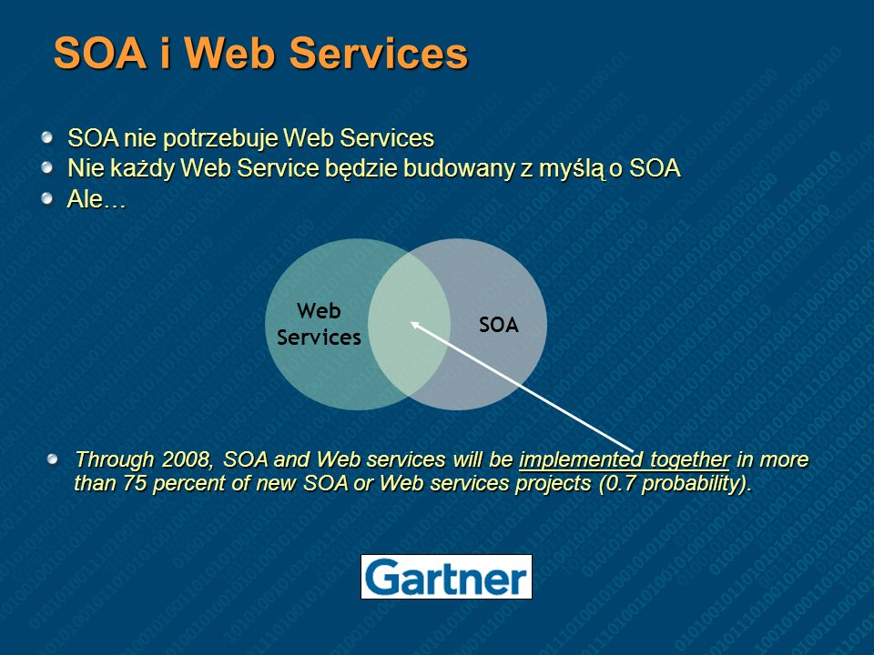 SOA i Web Services SOA nie potrzebuje Web Services