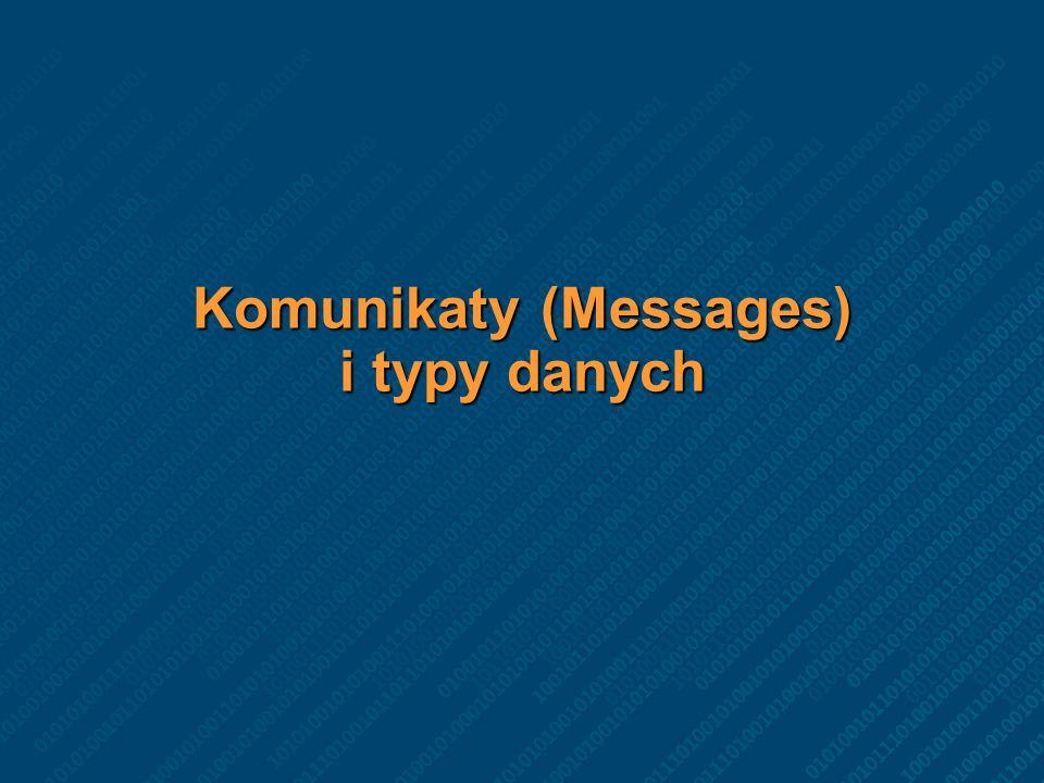 Komunikaty (Messages) i typy danych