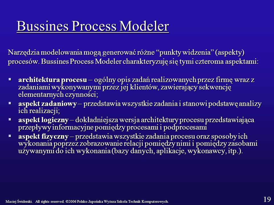 Bussines Process Modeler