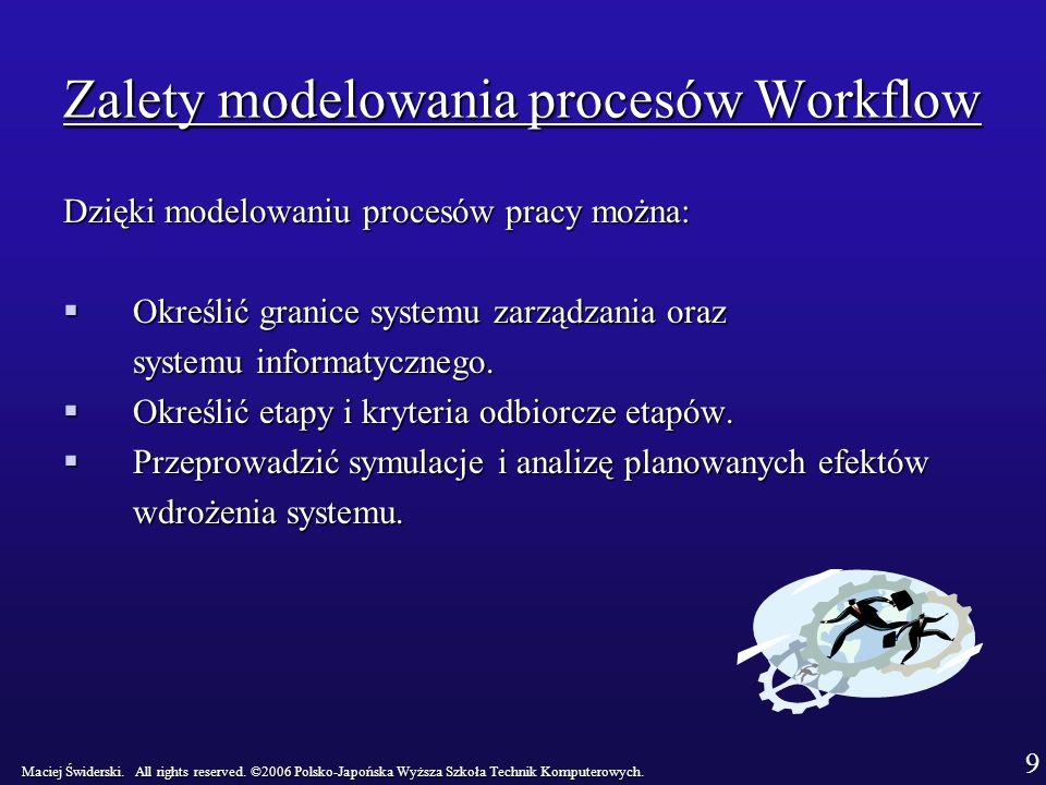 Zalety modelowania procesów Workflow