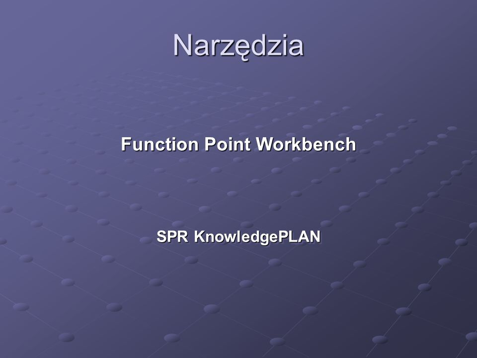 Function Point Workbench