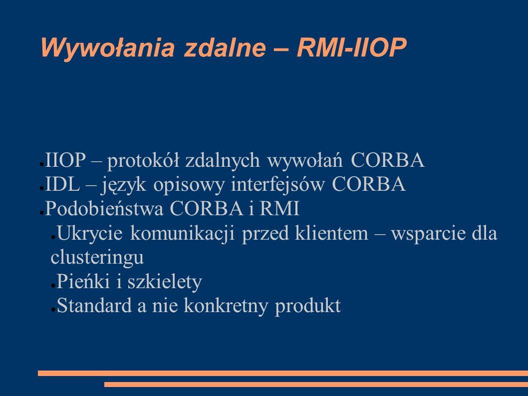 Wywołania zdalne – RMI-IIOP