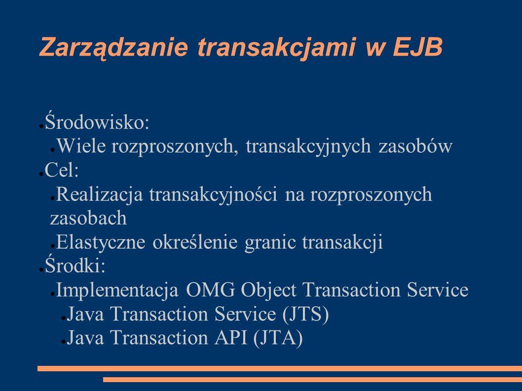 Zarządzanie transakcjami w EJB