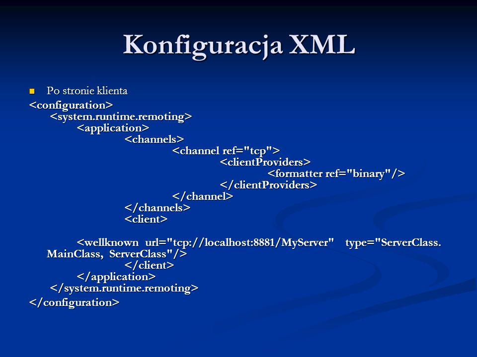 Konfiguracja XML Po stronie klienta