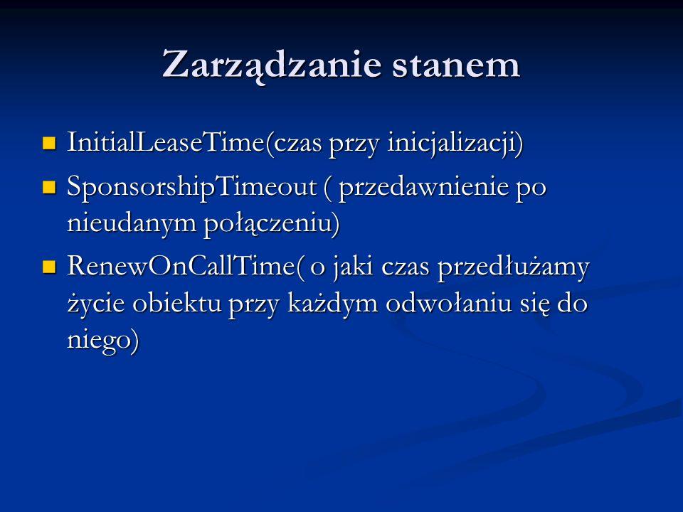 Zarządzanie stanem InitialLeaseTime(czas przy inicjalizacji)
