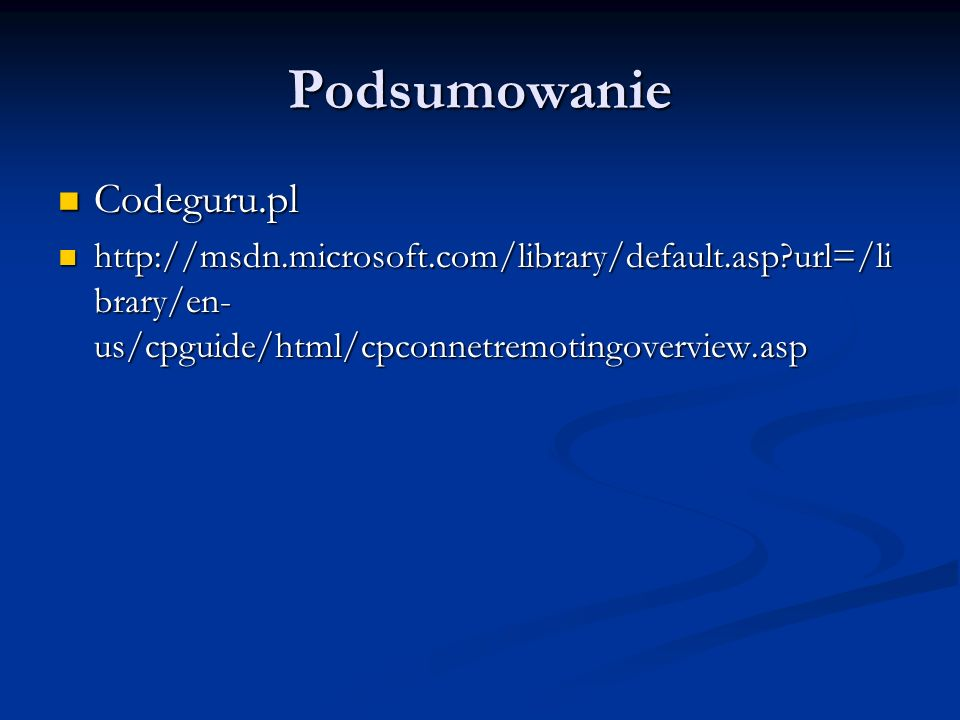 Podsumowanie Codeguru.pl