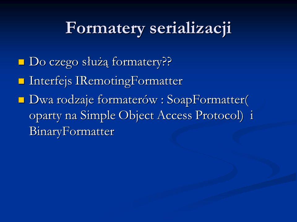 Formatery serializacji