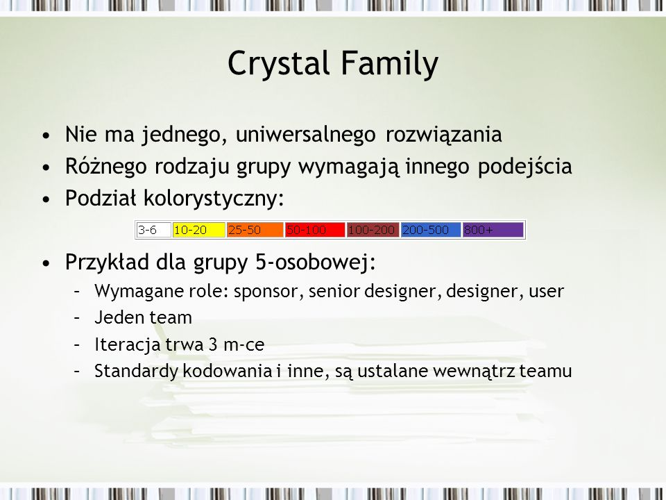 Crystal Family Nie ma jednego, uniwersalnego rozwiązania